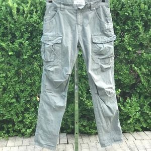Miss Me Cargo CP1242 Olive Green Pants Sz 28.